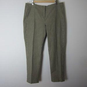 J. Jill Black Beige Gingham Check Cropped Pants